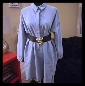 Boohoo Denim Mini Dress/Blouse
